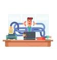 Man office worker multitasking vector image vector image
