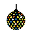 disco lights ball isolated icon vector image