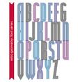 Condensed stripy font retro geometric narrow vector image