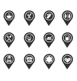 map pointer symbols vector image