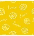 Seamless Pattern Yellow Lemon vector image