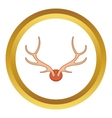 Antlers icon vector image
