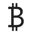 bitcoin icon grey color vector image