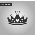 black and white style crown royal vector image