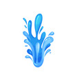 bright water splash powerful water stream marine vector image