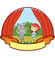 little red riding hood children teatr vector image