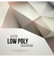Low poly triangular background Design element vector image
