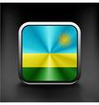 Rwanda flag national travel icon country symbol vector image