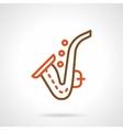Saxophone simple color line icon vector image