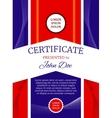 Modern award certificate template vector image