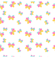 Seamless pattern with pink and orange butterflies vector image