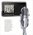 Karaoke party background vector image vector image