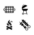 barbecue simple related icons vector image