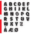 cute funny childish danish alphabet font vector image