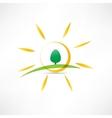 sunny landscape icon vector image vector image