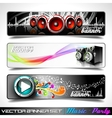 music themed banners vector image vector image