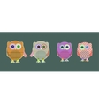 set of cute textile owls vector image