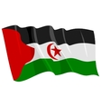 political waving flag of western sahara vector image vector image