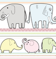 elephant pattern B vector image vector image