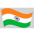 Flag of India waving on gray background vector image