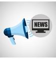 megaphone concept news online pc design vector image
