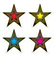 metal hexagon star award vector image