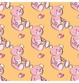 seamless pattern of a toy teddy bear vector image