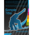snowboarding poster vector image