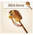 Stick horse toy Cartoon vector image