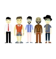 Types of Men different characters set collection vector image