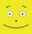 unusual face vector image