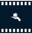 Wallet web icon vector image