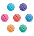 set of pills vector image vector image
