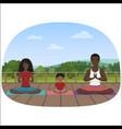 the multi-ethnic family vector image