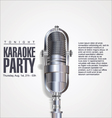 Karaoke party background vector image