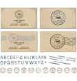 Mail and post template vector image