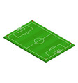 3d isometric football soccer field vector image