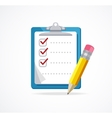 checklist Flat Design vector image