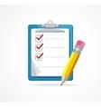 checklist Flat Design vector image vector image