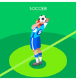Soccer Throw 2016 Summer Games 3D Isometric vector image vector image