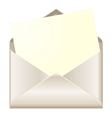 Open envelope with card vector image vector image