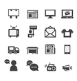 Advertisement icons set vector image