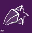 Astronomy conceptual pentagonal comet star - vector image