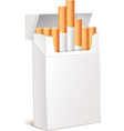 Cigarette pack 3d eps 10 vector image