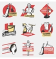 Colorful Cleaning Company Logotypes vector image