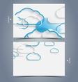 Elegant business card design template vector image
