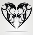 Heart Shape Tattoo Design vector image