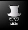 hipster accessories design gray 3d vector image
