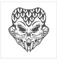 indian demon for T-shirt printed and poster vector image
