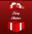 opened red christmas gift box christmas banner vector image